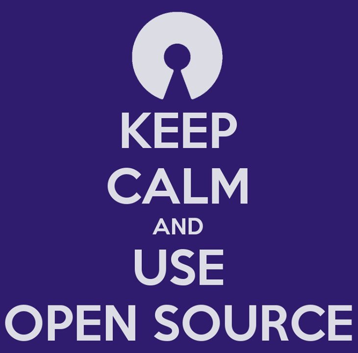Keep calm and use open software