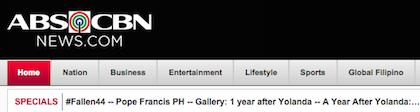 Popular Drupal built website ABS-CBN News