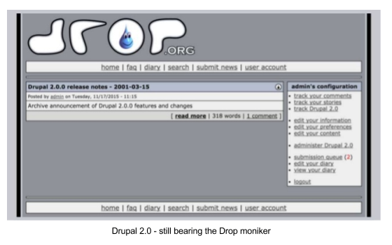 Drupal 2.0 interface