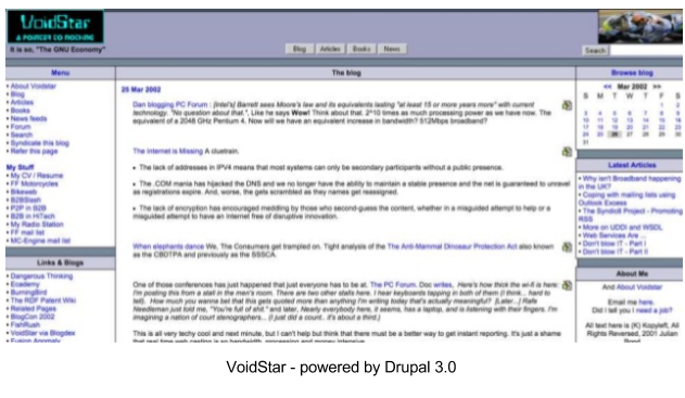 Drupal 3.0 interface