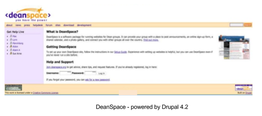 Drupal 4.0 interface