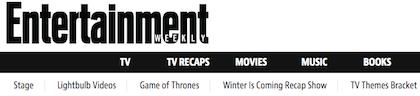 Popular Drupal built website Entertainment Weekly