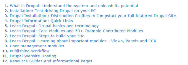 Drupal First Time User Guide