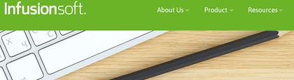 Popular Drupal built website Infusionsoft.com