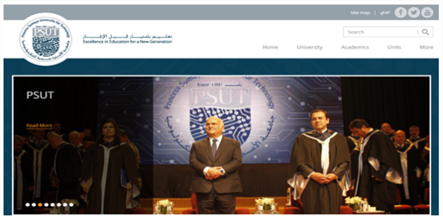 Princess Sumaya University For Technology |  Drupal University Websites in the ME