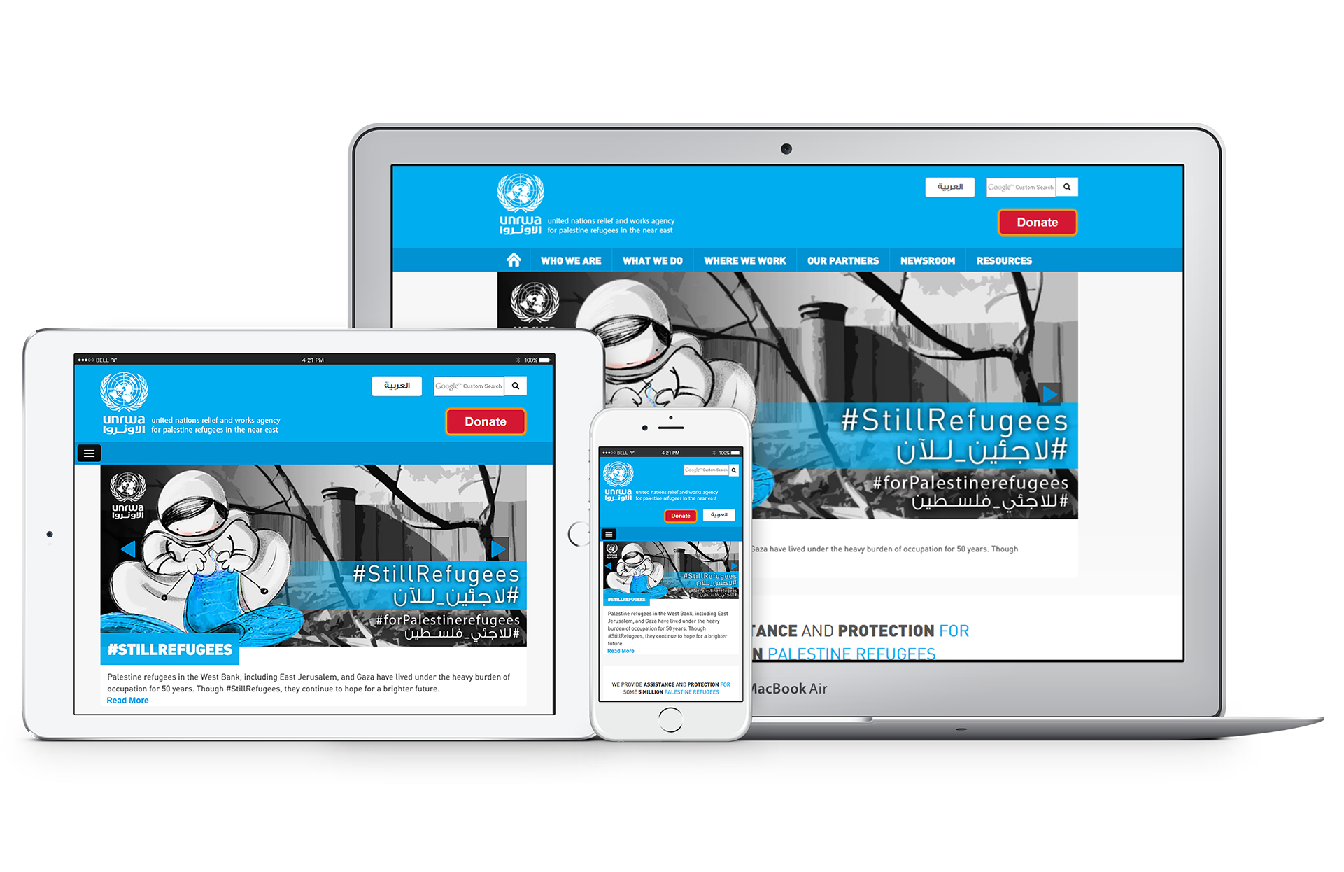 UNRWA website | Vardot