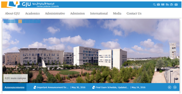 German Jordanian University |  Drupal University Websites in the ME