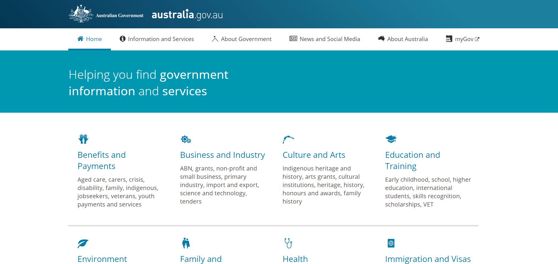 Australian Government Drupal Website