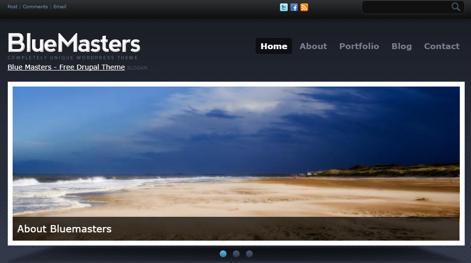 Best Drupal themes: BlueMasters