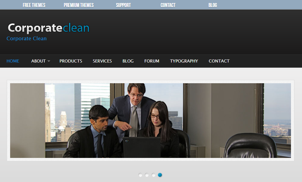 Best Drupal themes: Corporate Clean