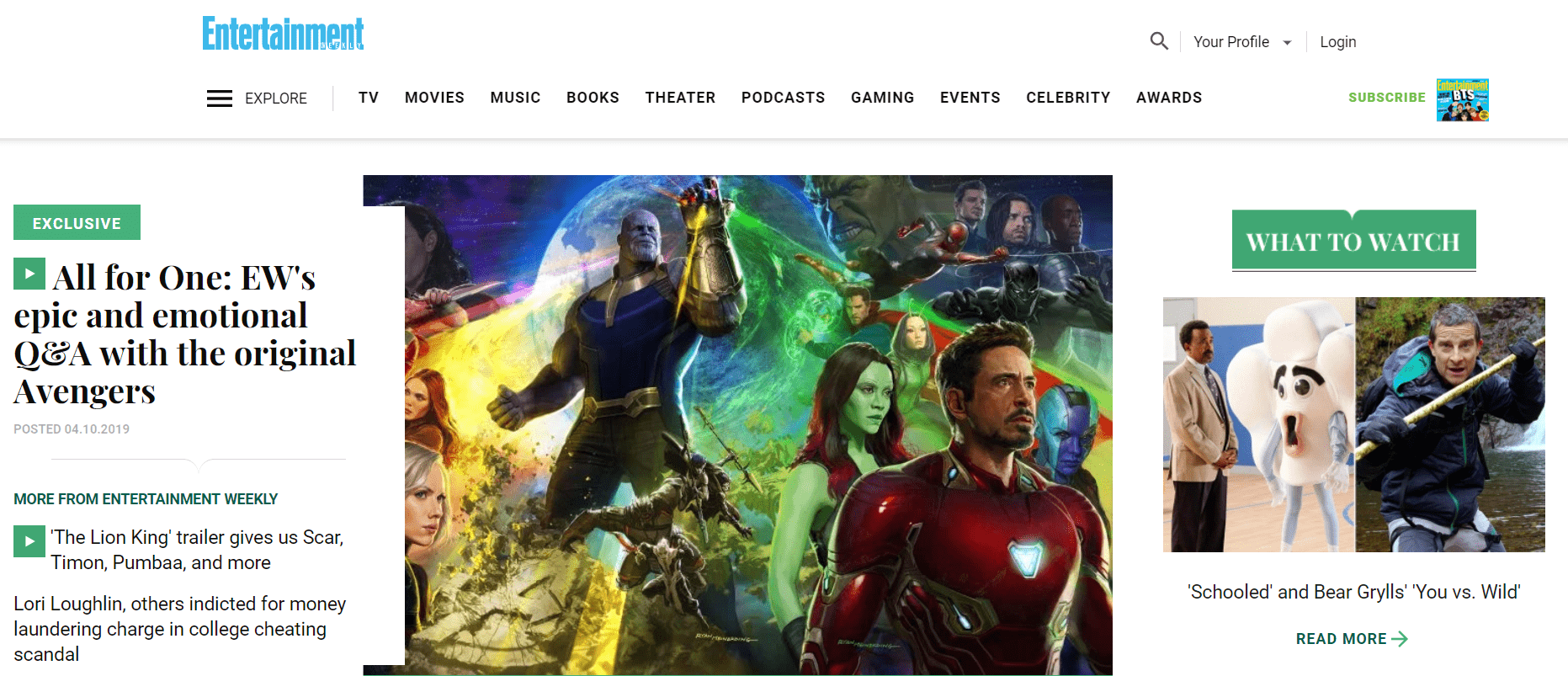 Entertainment Weekly Drupal Website