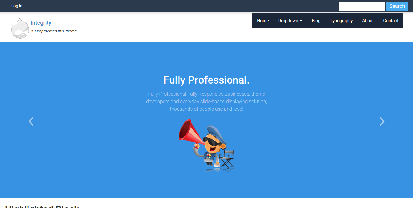 Top free Drupal themes: Integrity