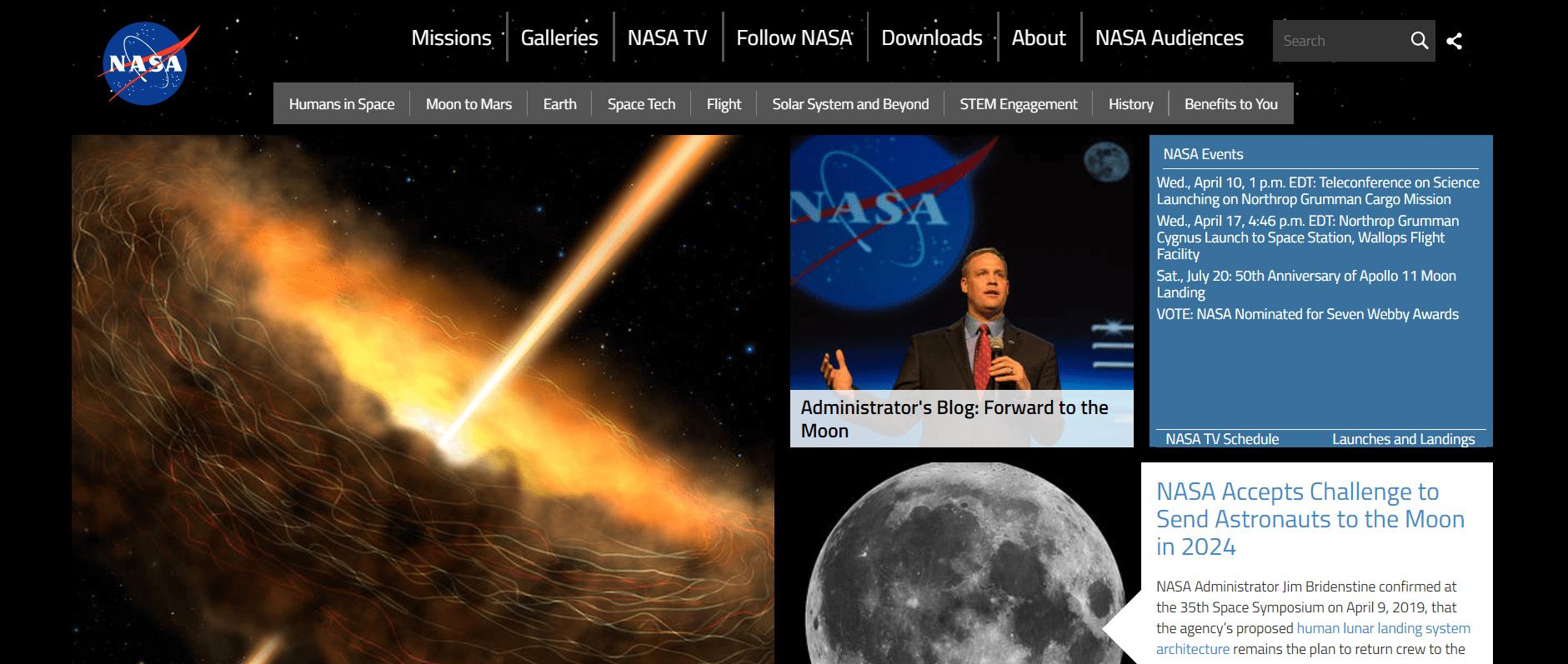 NASA Drupal Website