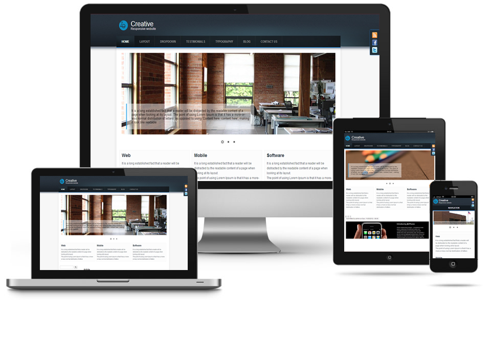 Creative Responsive Theme | Themes for Drupal 8