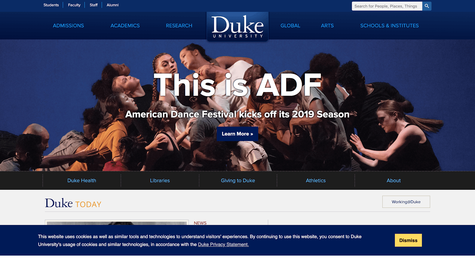 Duke University Website