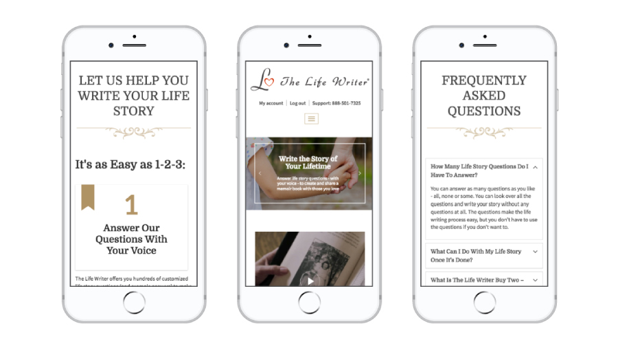 The Life Writer - Mobile Responsive Design