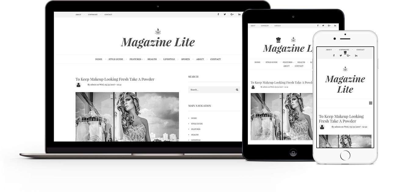 Magazine Lite | Themes for Drupal 8