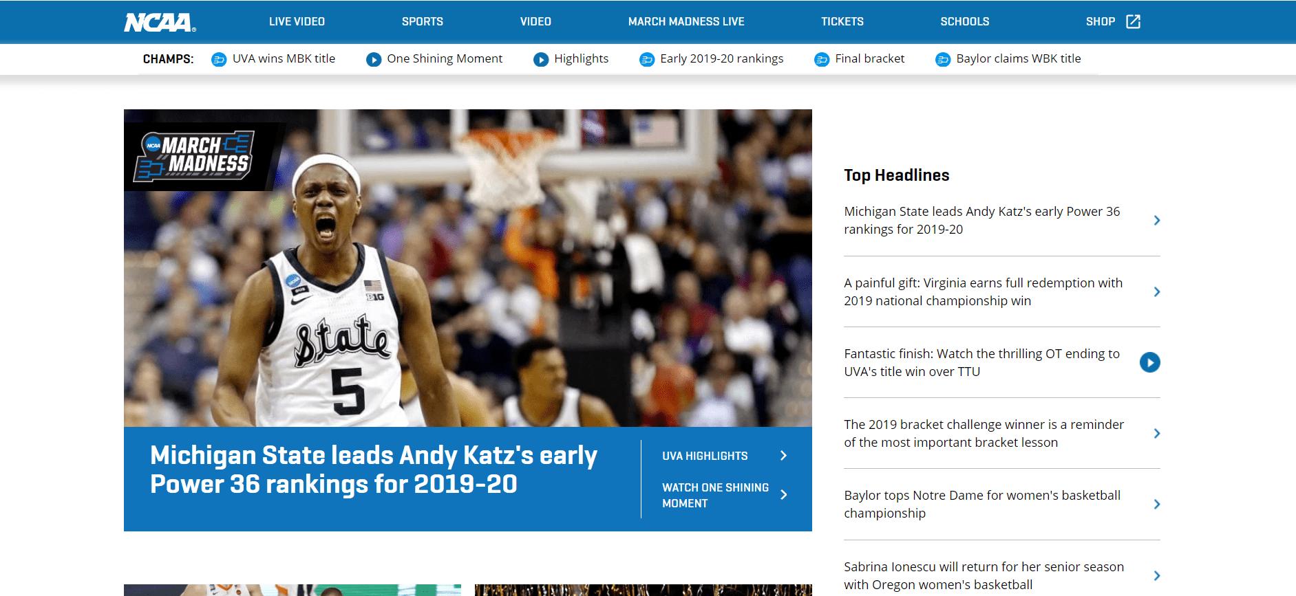 NCAA Drupal Website