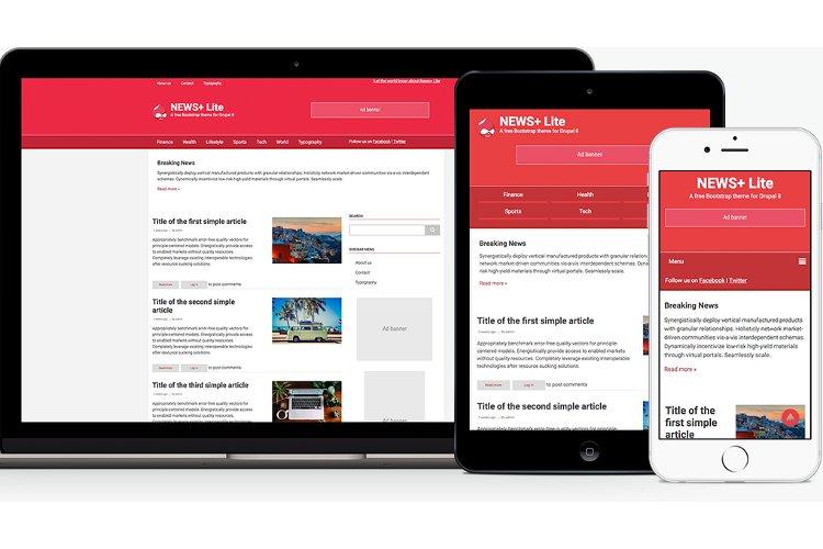 NewsPlus Lite Theme | Themes for Drupal 8
