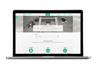 Bootstrap Mint Theme | Themes for Drupal 8