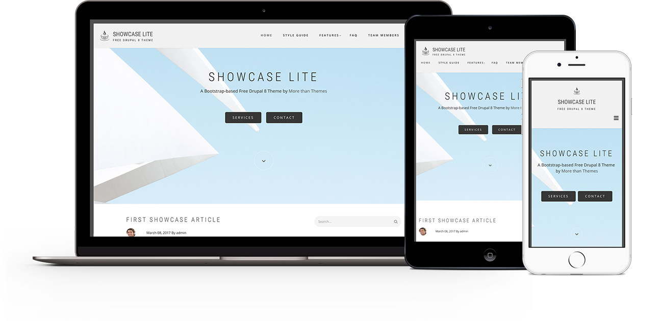 Showcase Lite Theme | Themes for Drupal 8
