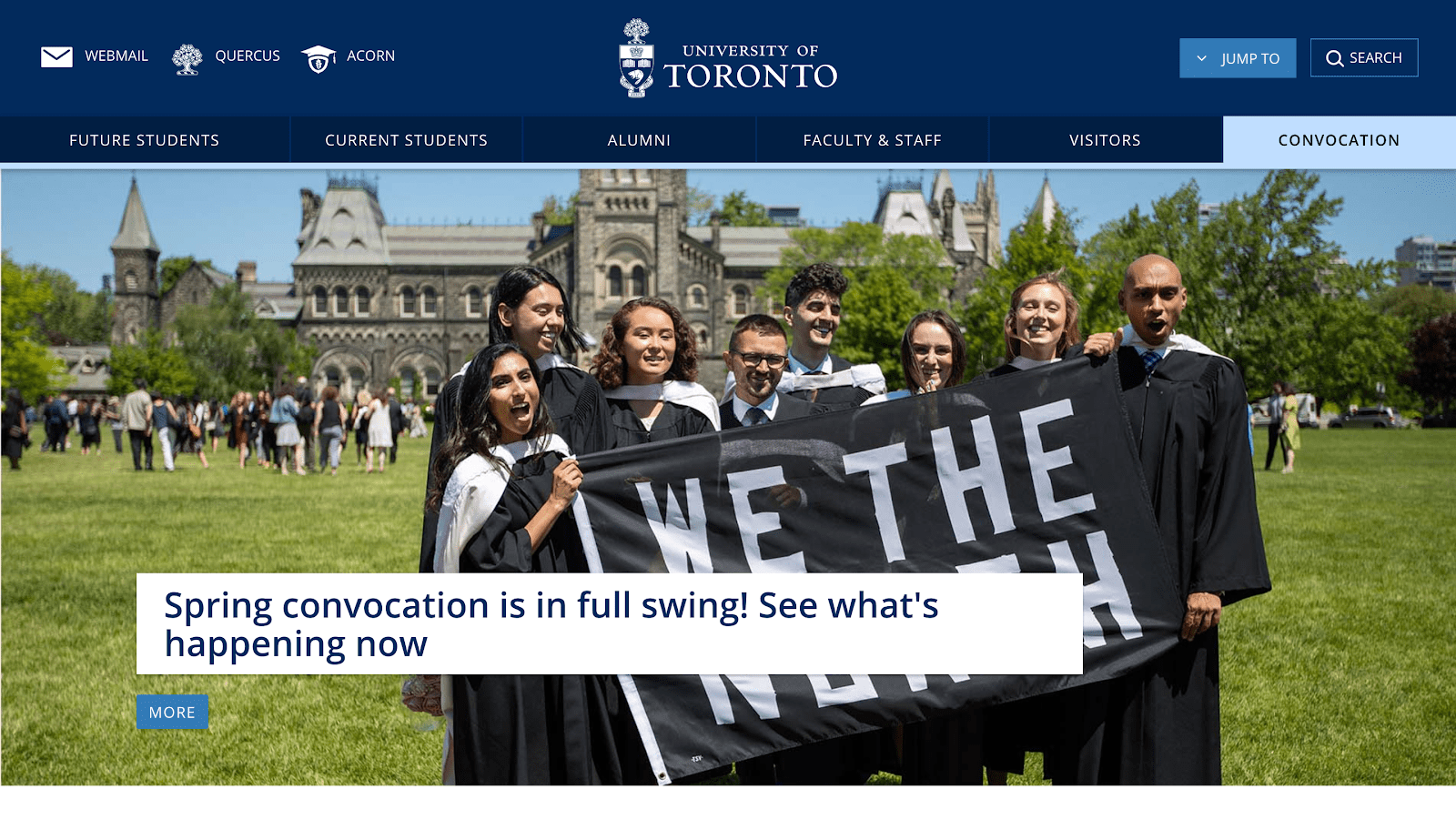 U of T website