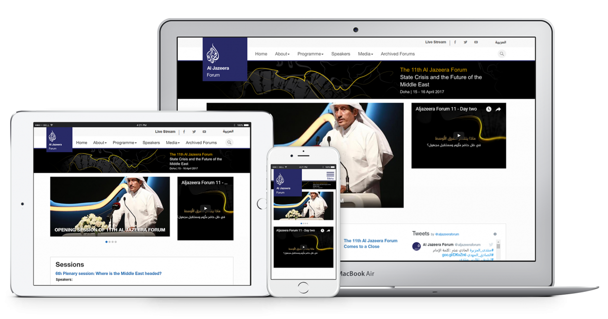 Website Case Study: Al Jazeera Forum | Vardot