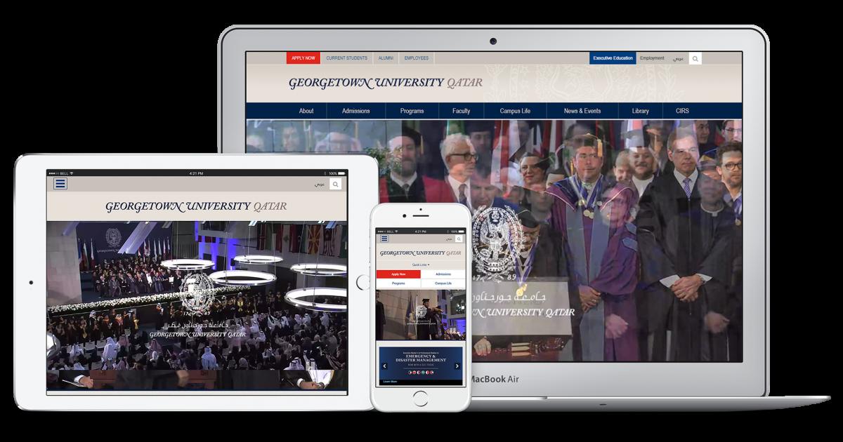 Website Case Study: Georgetown University, Qatar | Vardot