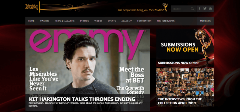 The Emmys Website