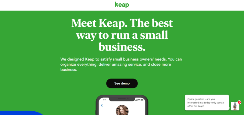 Keap Website
