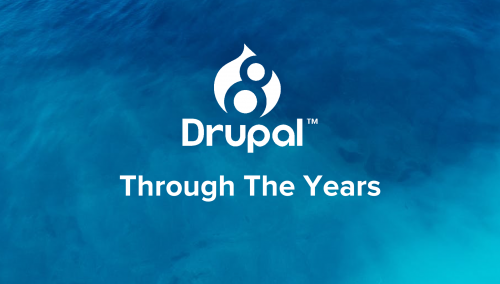The evolution of Drupal: Drop 1.0 to Drupal 8