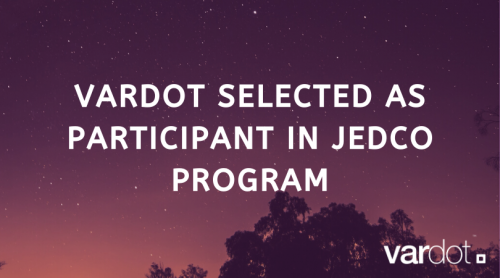 Vardot Selected As Participant in JEDCO Program