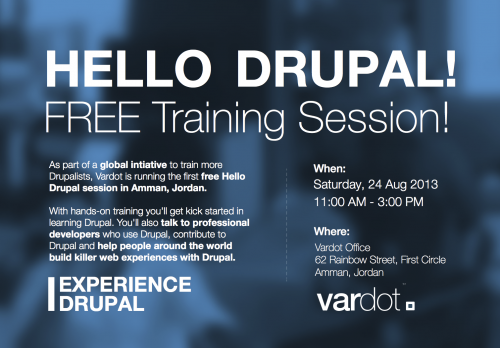 Drupal training session