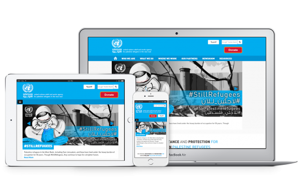 Screenshot of United Nations Relief and Works Agency (UNRWA)