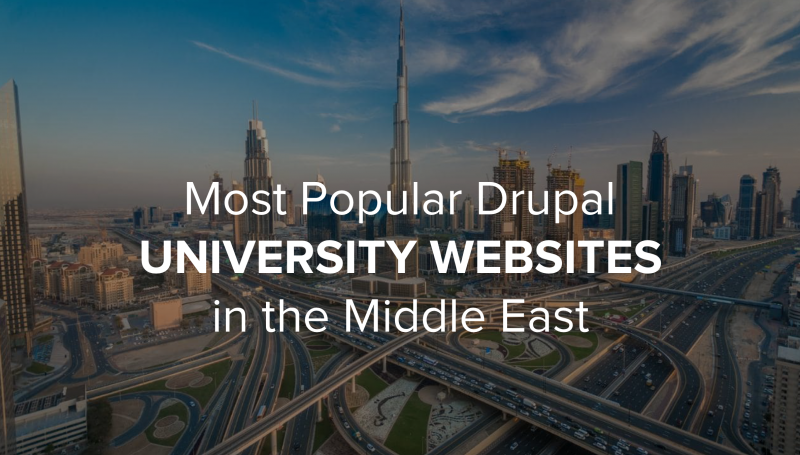 Drupal University Websites in the ME