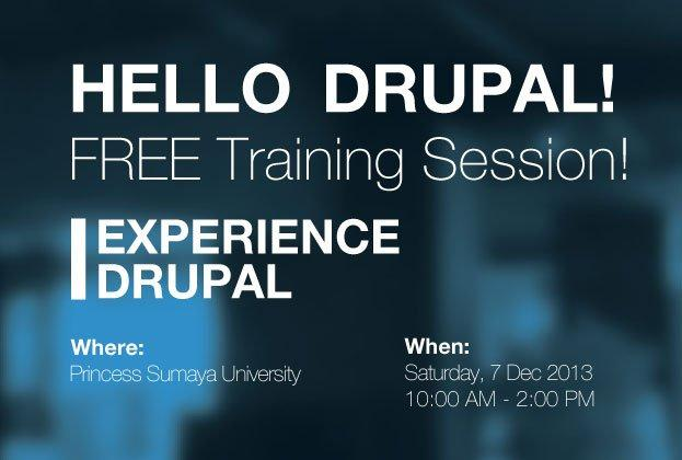 Hello Drupal! Free Training Session on Dec. 7th