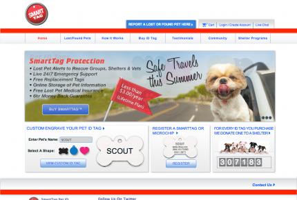SmartTag web page screenshot