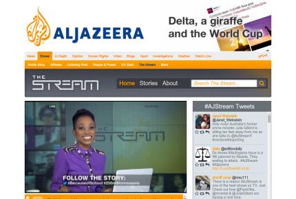 Al Jazeera website developed by Vardot - screen-shot