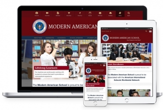 Modern Amedican School Website Developed by Vardot